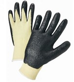 West Chester 713KSNF-2X Nitrile Coated Kevlar Gloves- Black/White